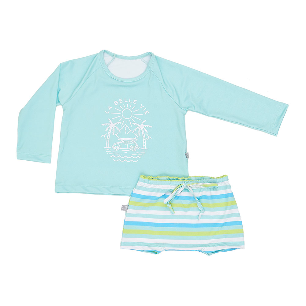 Conjunto Praia La Belle Vie Baby Gut com Proteção Solar
