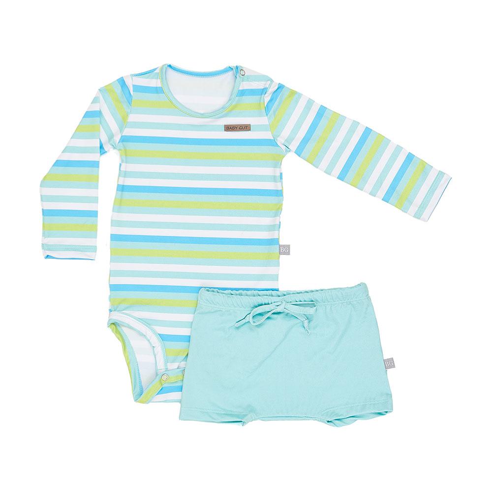 Conjunto Praia Listras Baby Gut com Proteção Solar
