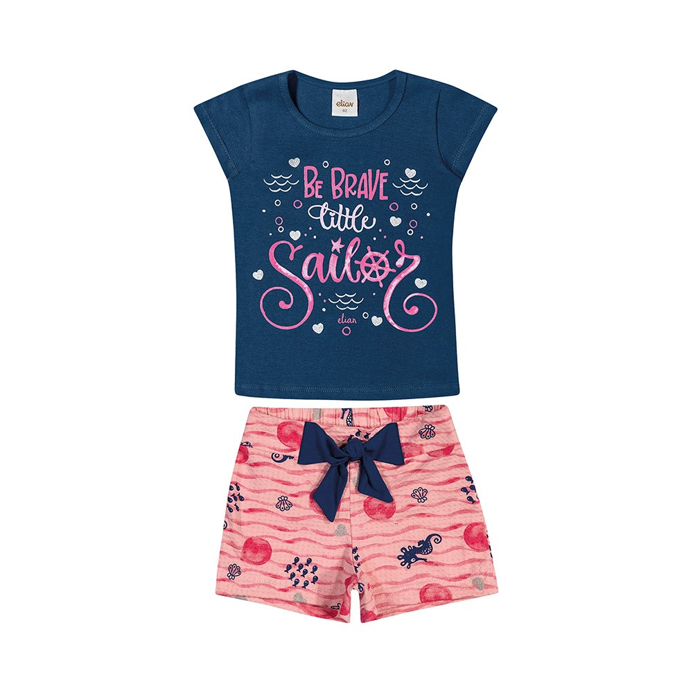 Conjunto Sailor Marinho