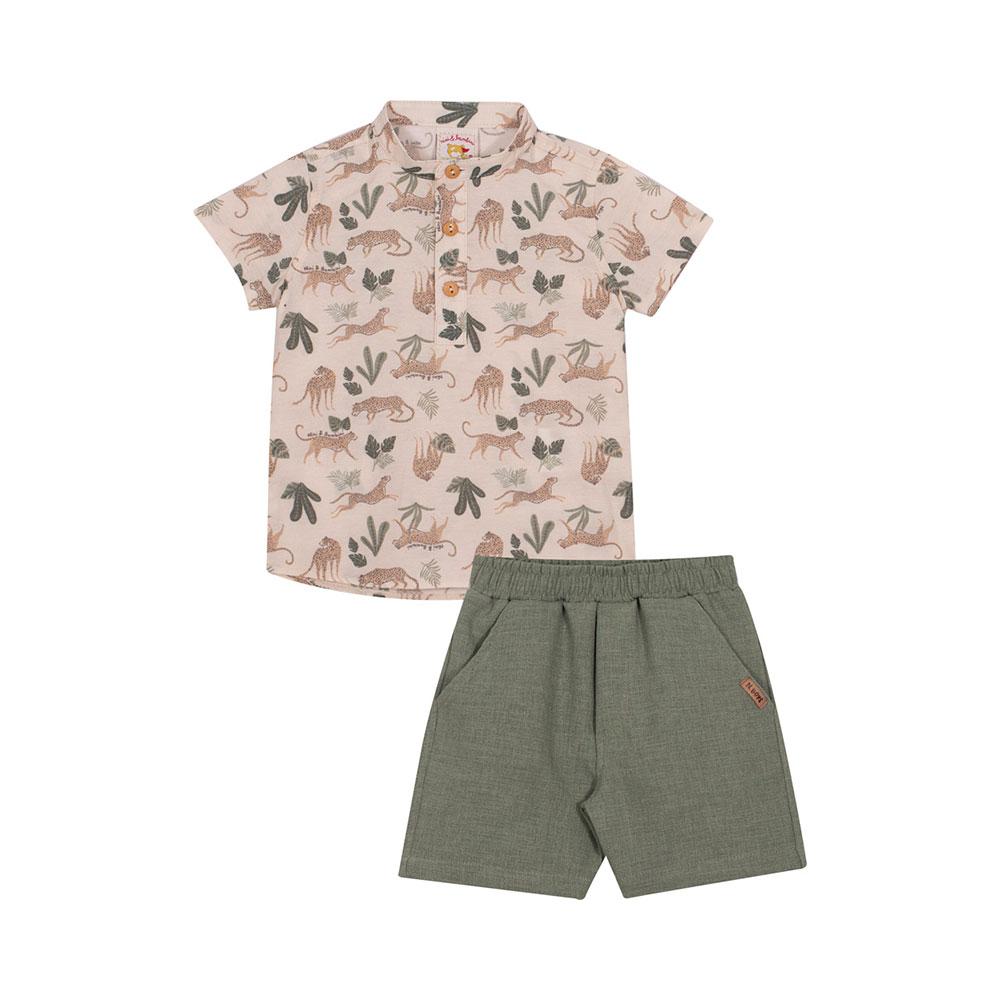 Conjunto Selva com Camisa Nini Bambini