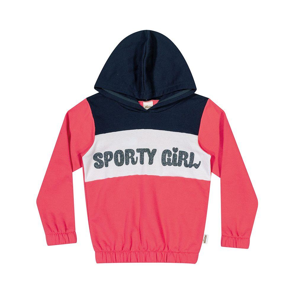 Conjunto Sporty Girl Marinho e Goiaba