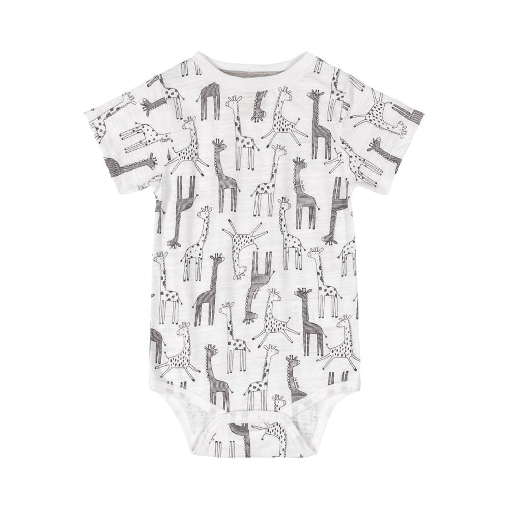 Conjunto Suspensório Girafinha Branco