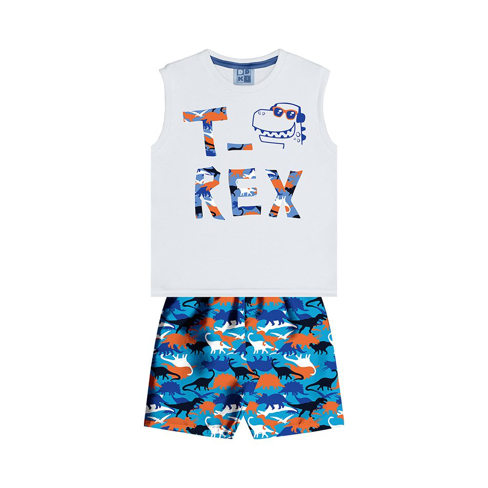 Conjunto T-Rex Branco