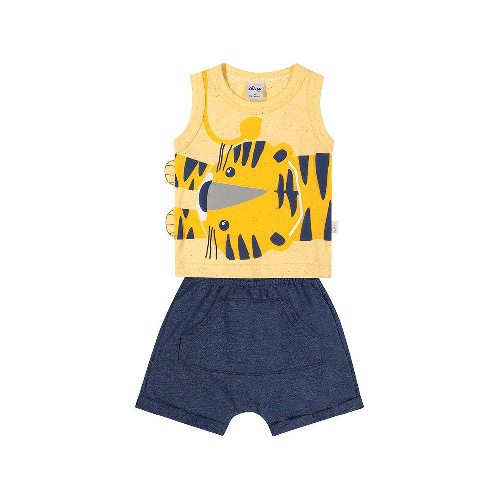 Conjunto Tigrinho Amarelo
