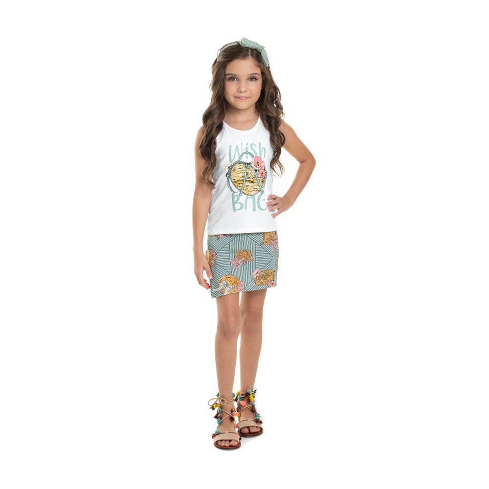 Conjunto Wish Quimby com Shorts Saia