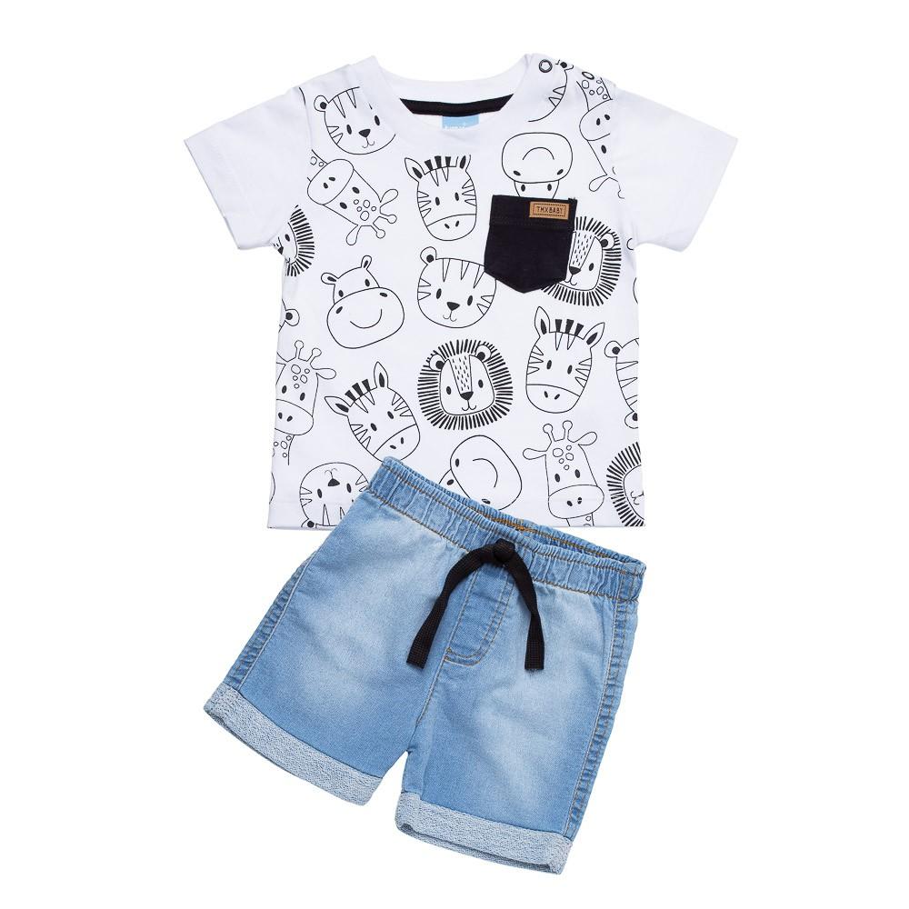 Conjunto Zoo Branco com Jeans