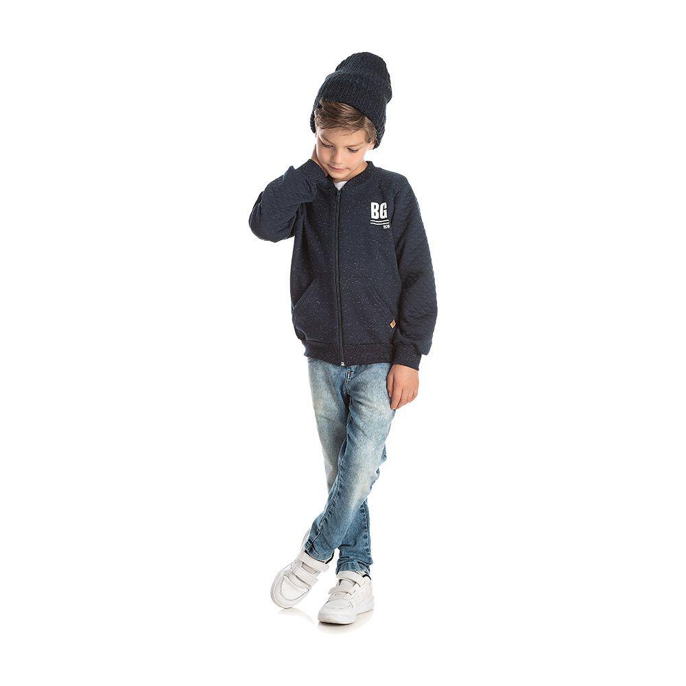 Jaqueta Bomber Marinho Boy