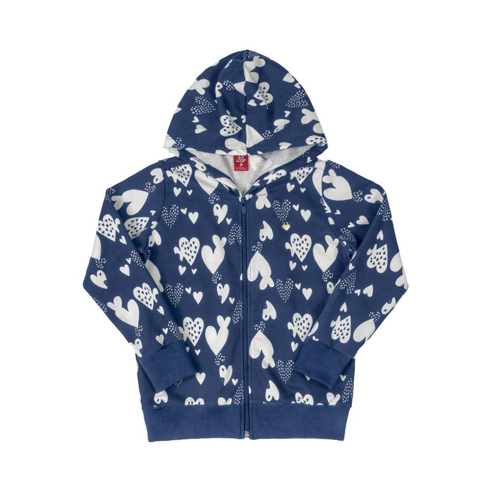 Jaqueta Corações Azul