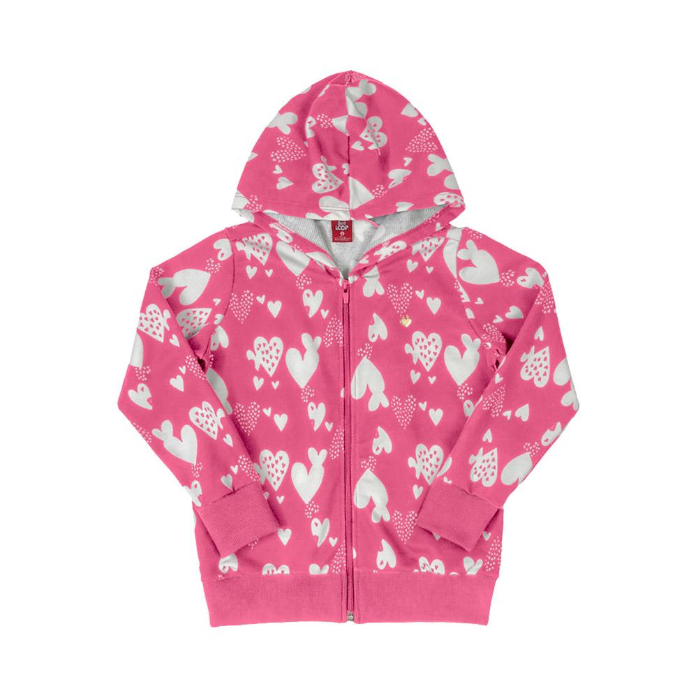 Jaqueta Corações Rosa