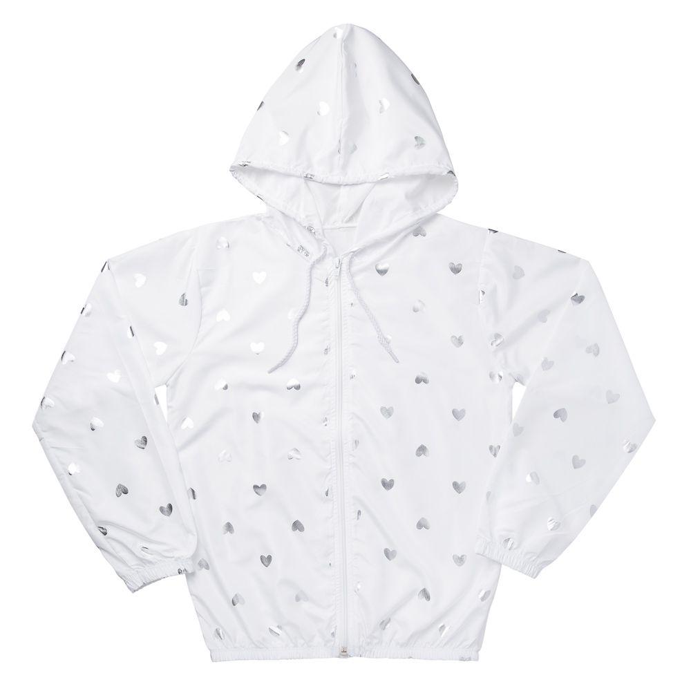 Jaqueta Corta Vento Branca