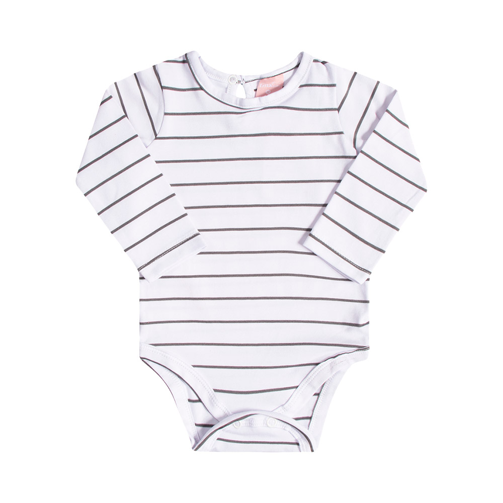 Jardineira em Jeans Confort médio com Body TMX Baby