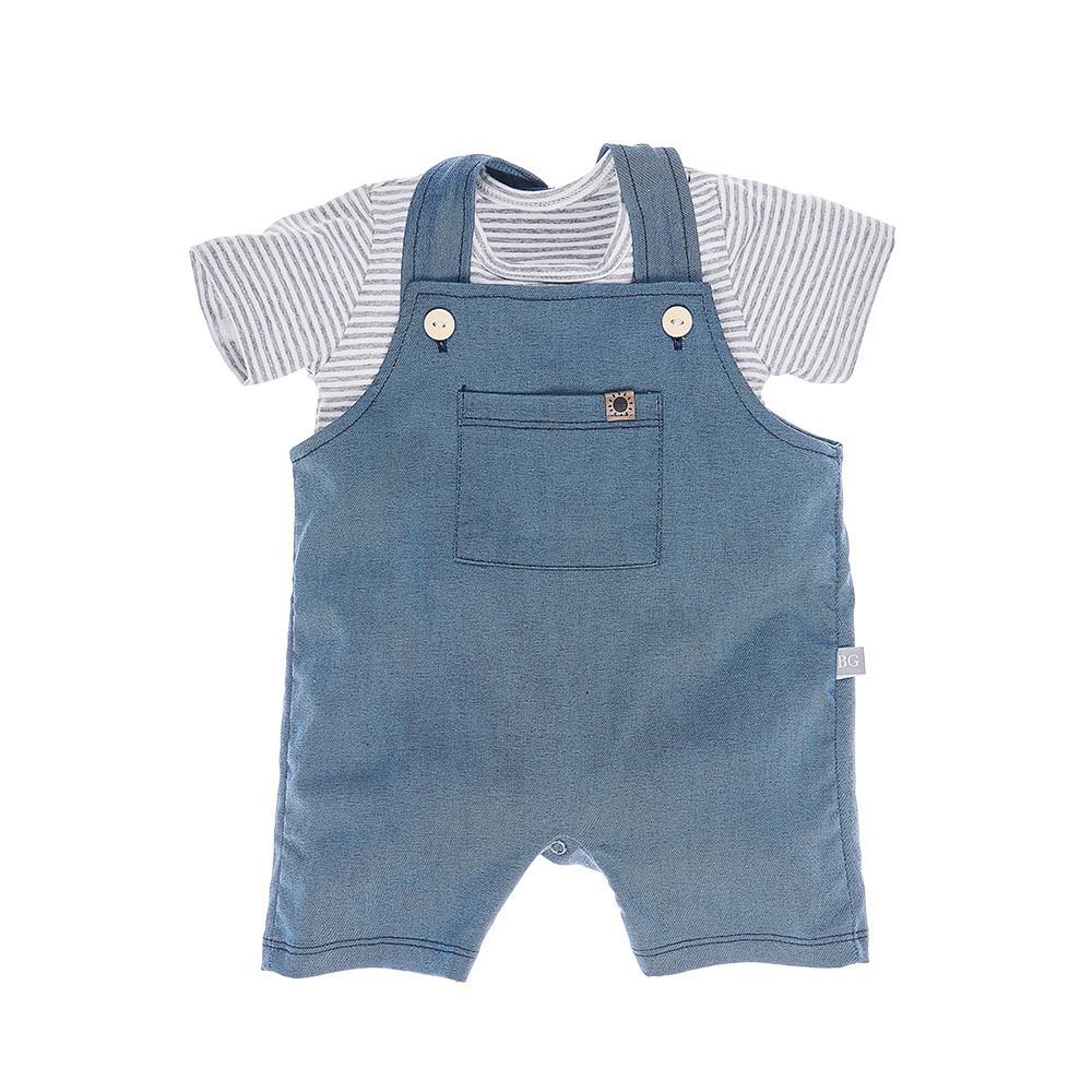 Jardineira em Molecotton Jeans Baby Gut