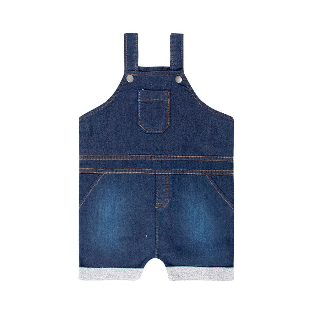Jardineira Jeans Confort Médio TMX com Body