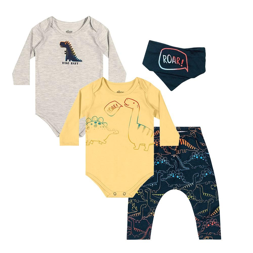 Kit Body Dino Baby 4 peças