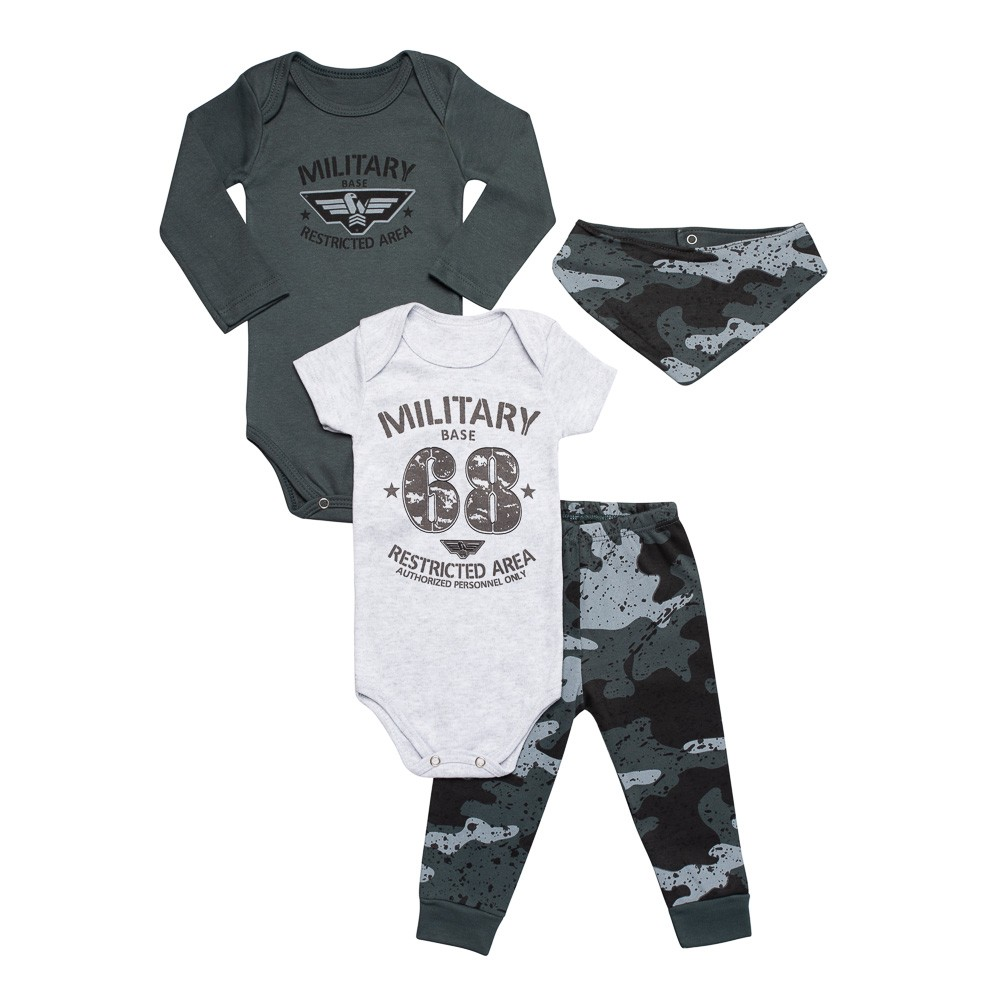 Kit Body Military 4 Peças Infantilitá