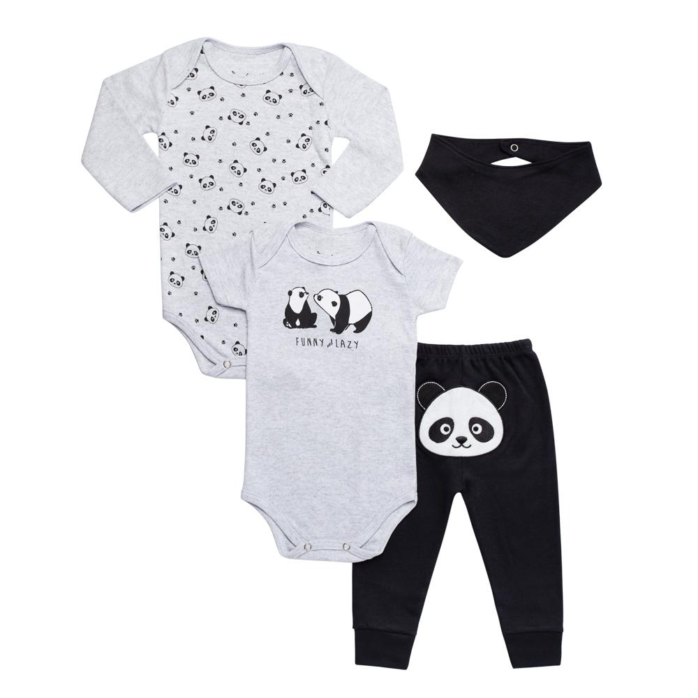 Kit Body Panda 4 Peças Infantilitá