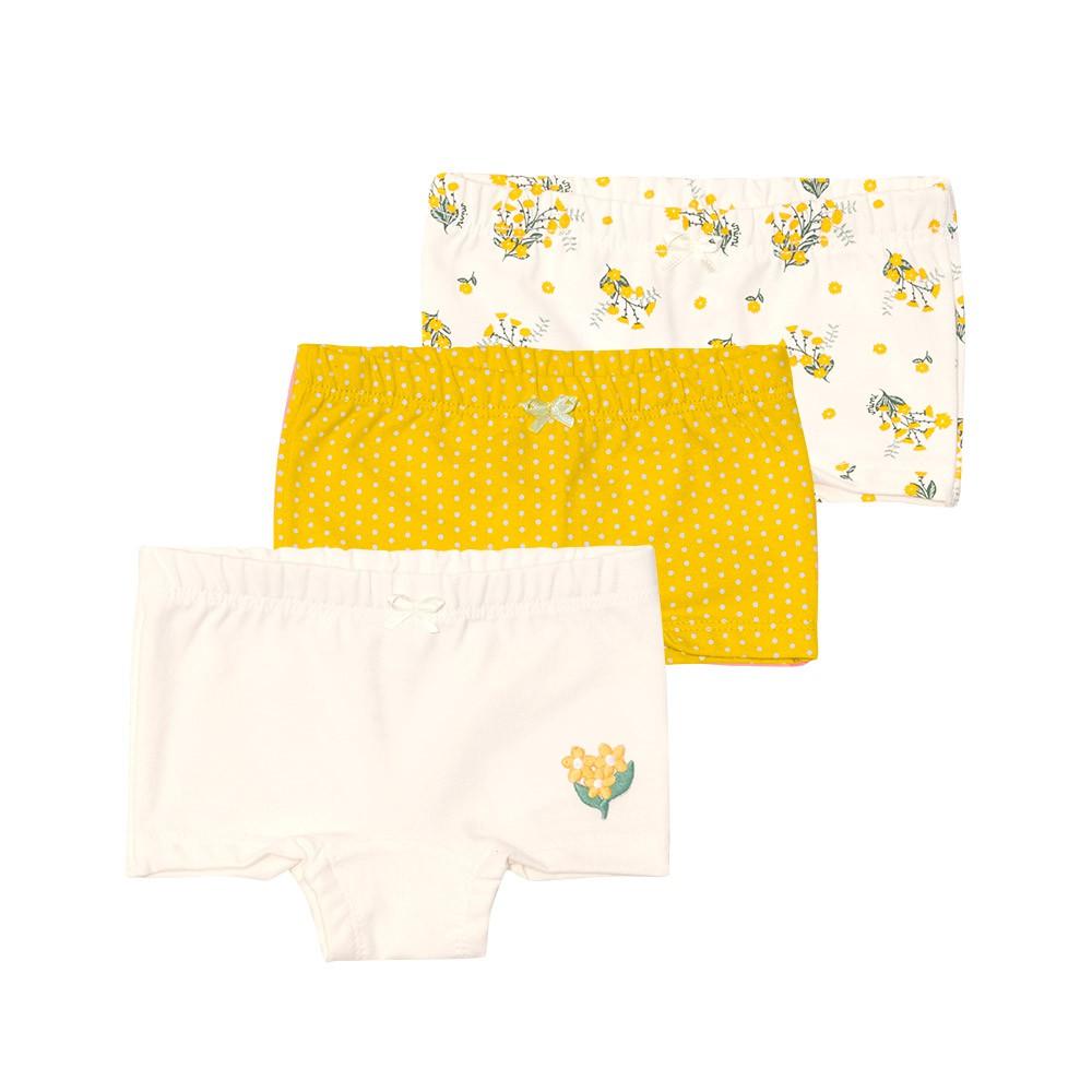 Kit calcinhas Flores Boxer Nini Bambini