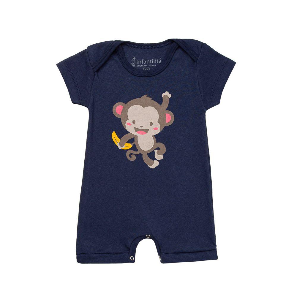 Kit Macacão Monkey 3 Peças Infantilitá