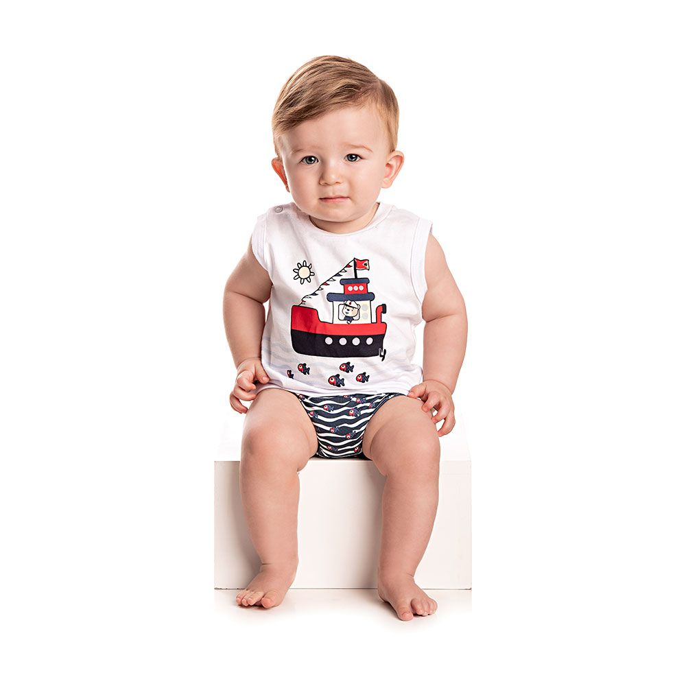 Kit Sunga e Regata Marine Baby