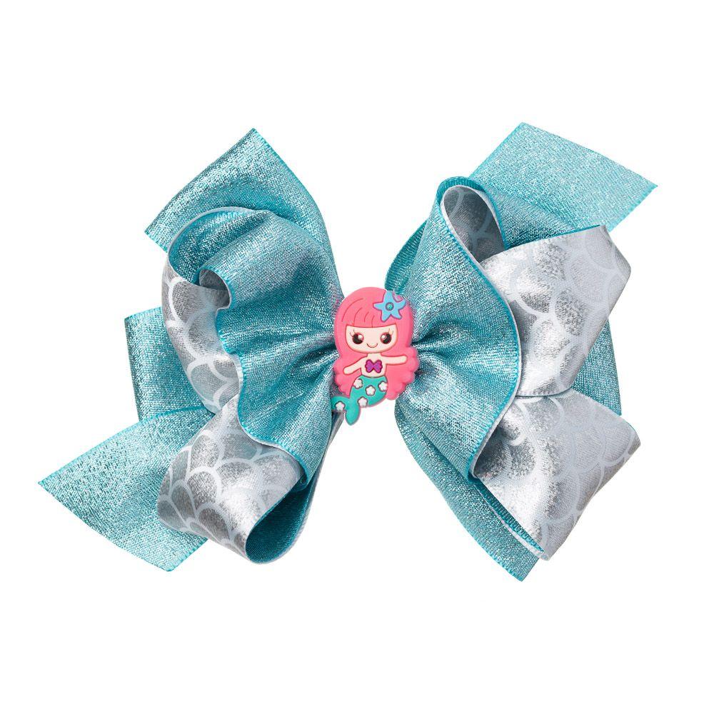 Laço Sereia Glitter Azul