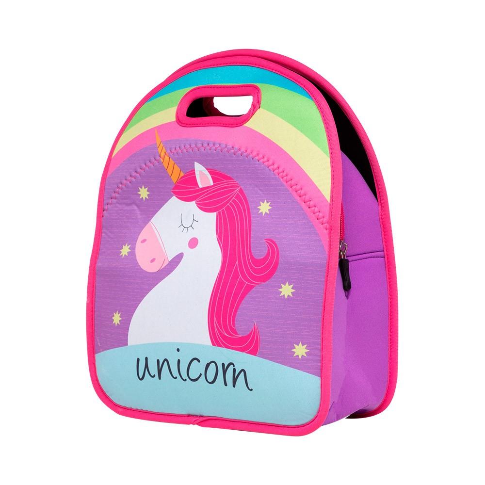 Lancheira Unicorns em Neoprene com proteção térmica