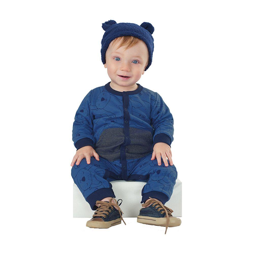 Macacão Bear Azul em Moletom
