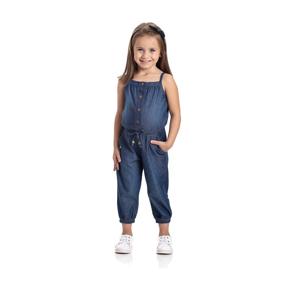 Macacão Chambray Jeans Escuro
