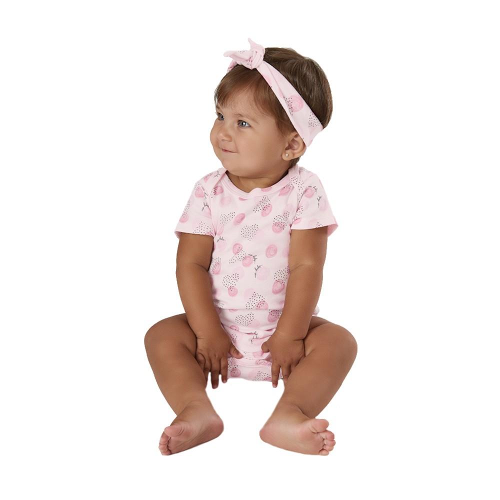 Macacão Corações com Faixinha Up Baby