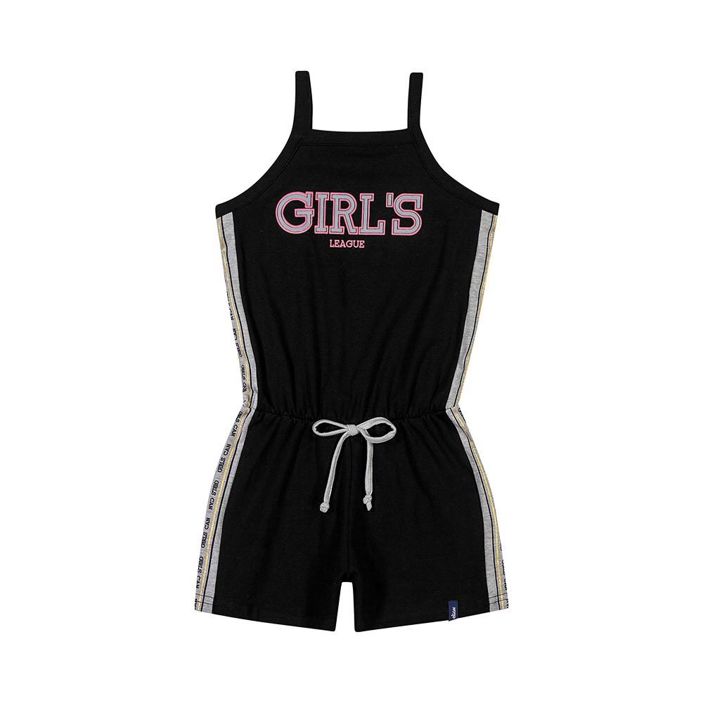 Macacão Girls League Preto