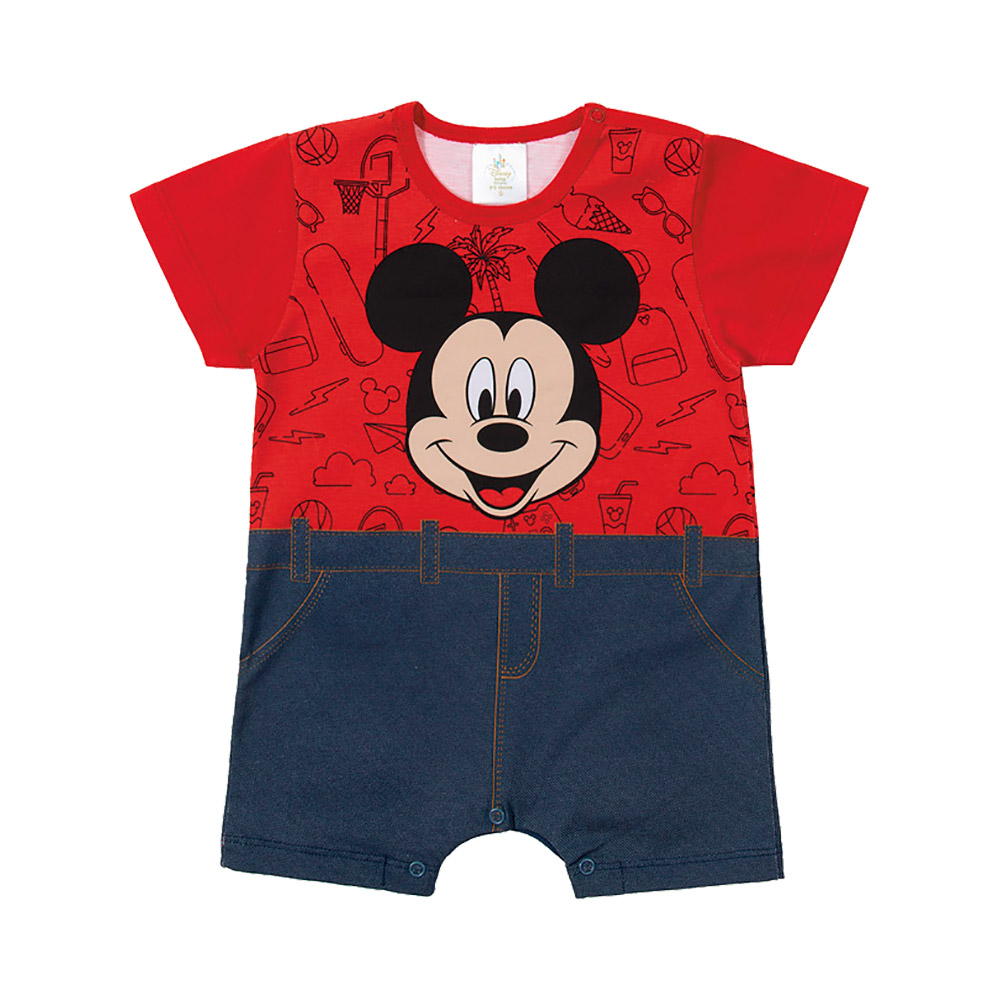 Macacão Mickey Vermelho - Oficial Disney