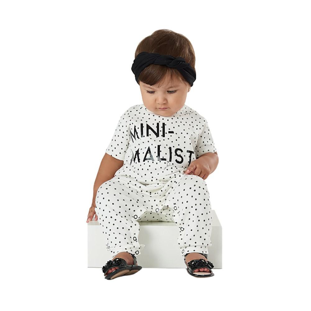 Macacão Minimalist Creme com Faixinha Up Baby