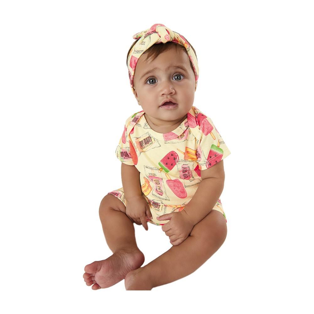 Macacão Picolés com Faixinha Up Baby
