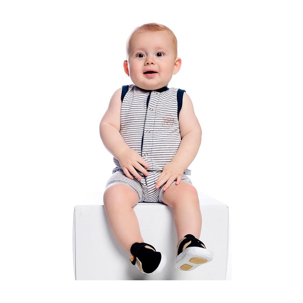 Macacão Regata Listras Baby Gut