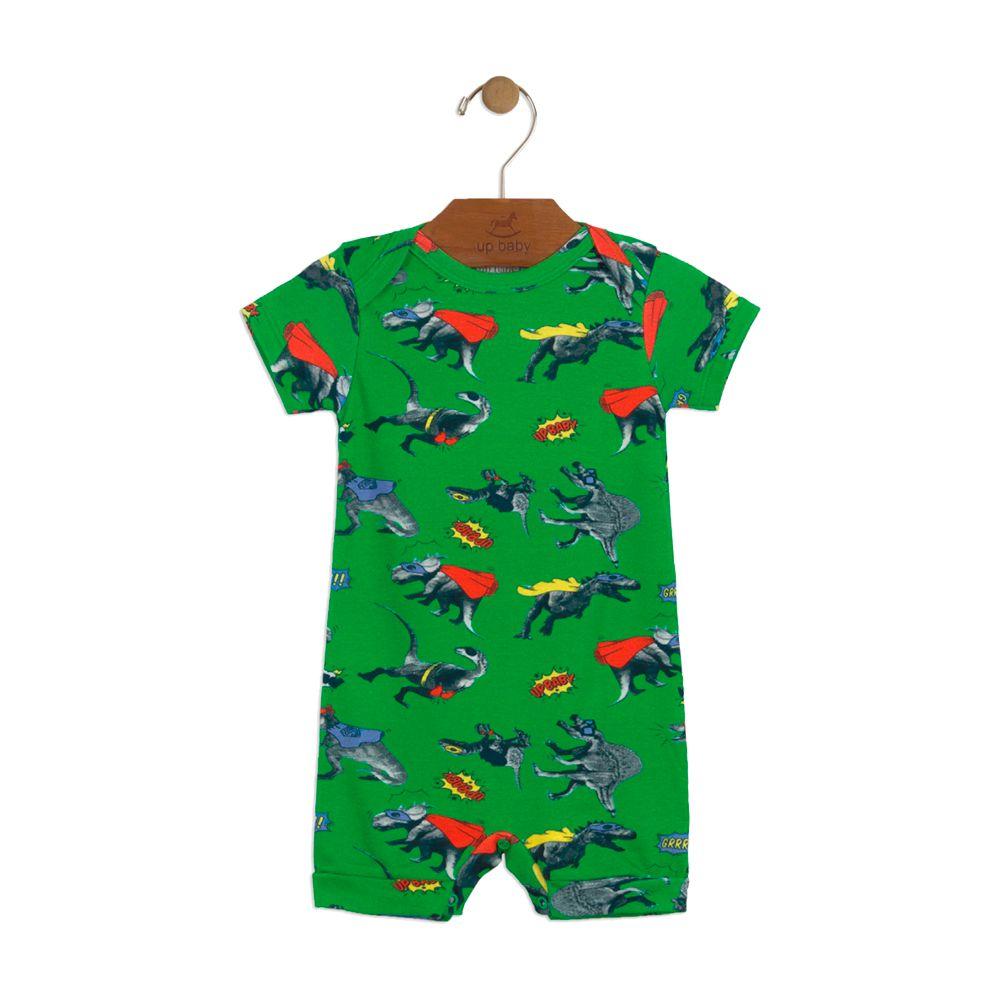 Macacão Up Baby Dinossauros Verde
