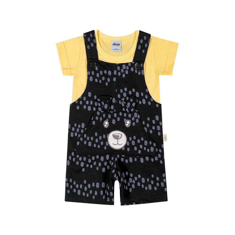Macacão Ursinho Baby Preto
