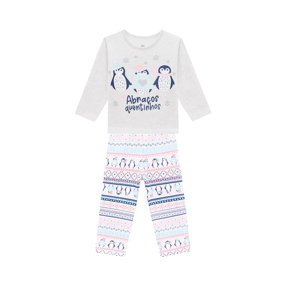 Pijama  Abraços Quentinhos Mescla