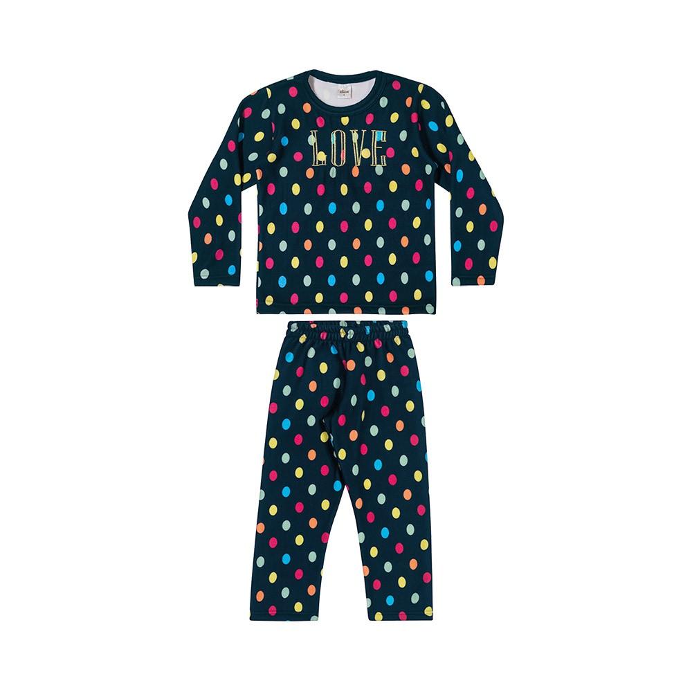 Pijama Bolas em Moletom Peluciado