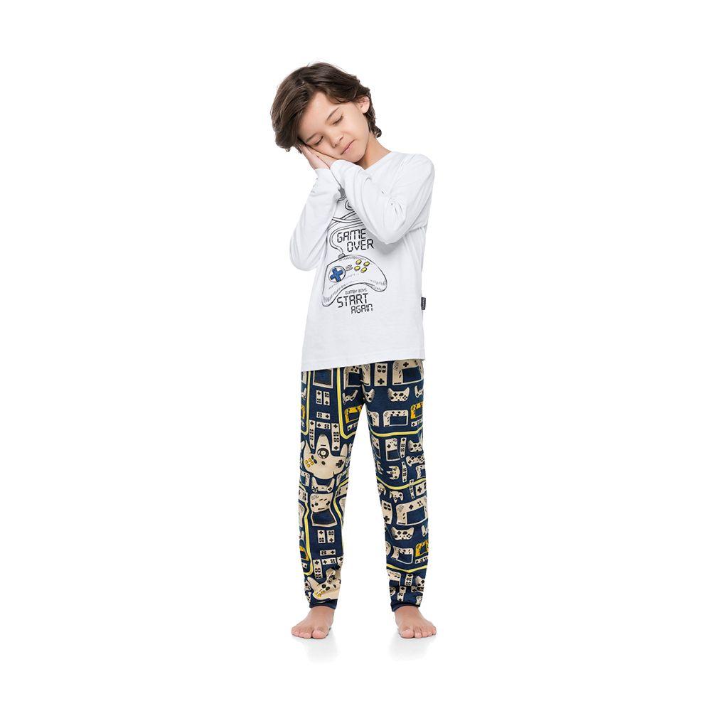 Pijama Controle Game Branco
