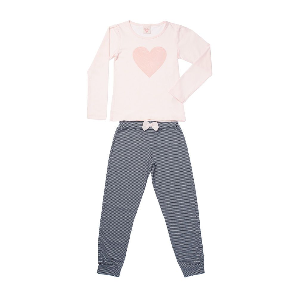 Pijama Coração Rosa ML