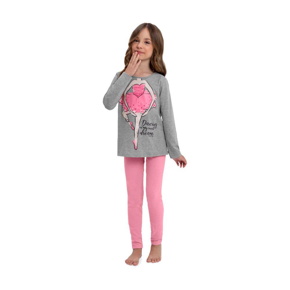 Pijama Dancing Quimby Cinza