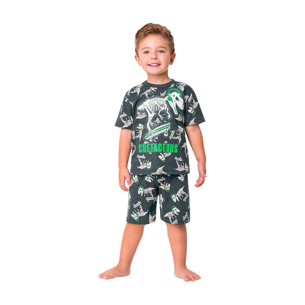 Pijama Dino Esqueleto Kyly  - Brilha no Escuro / Proteção Anti Mosquito