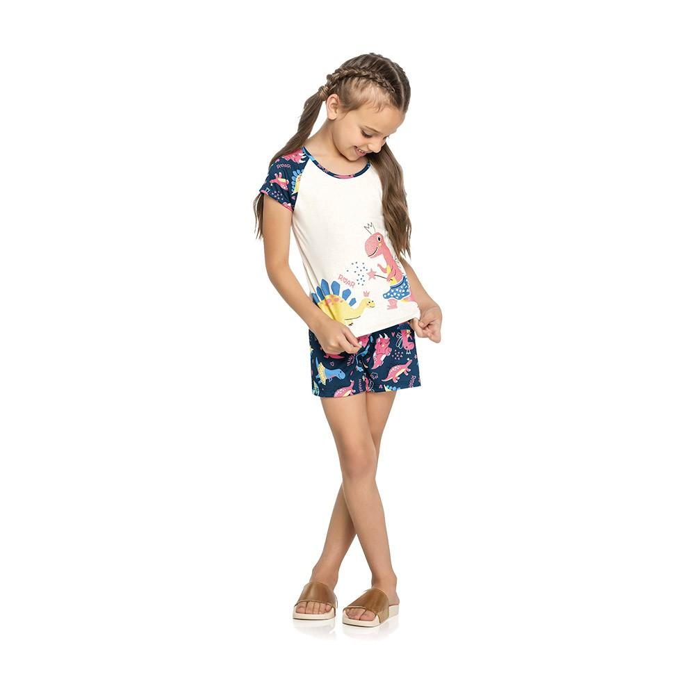 Pijama Dino Roar Brilha no Escuro