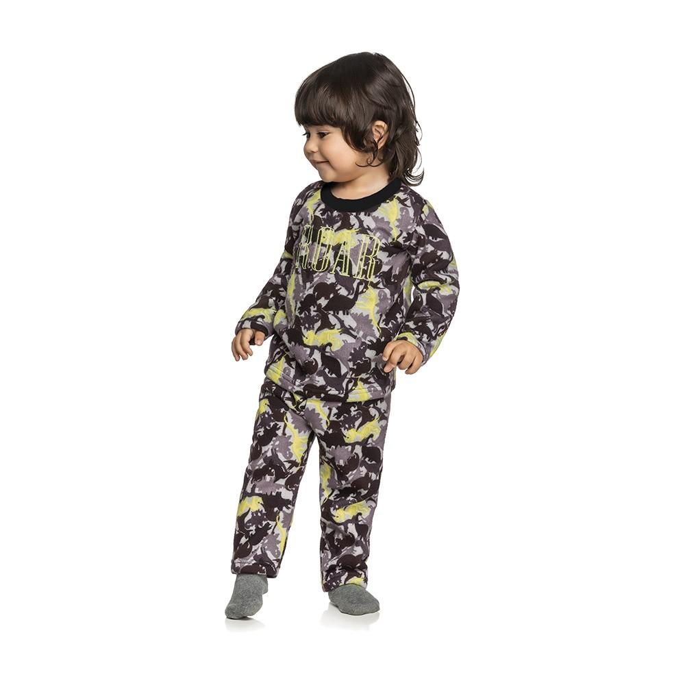 Pijama Dino Roar em Moletom Peluciado