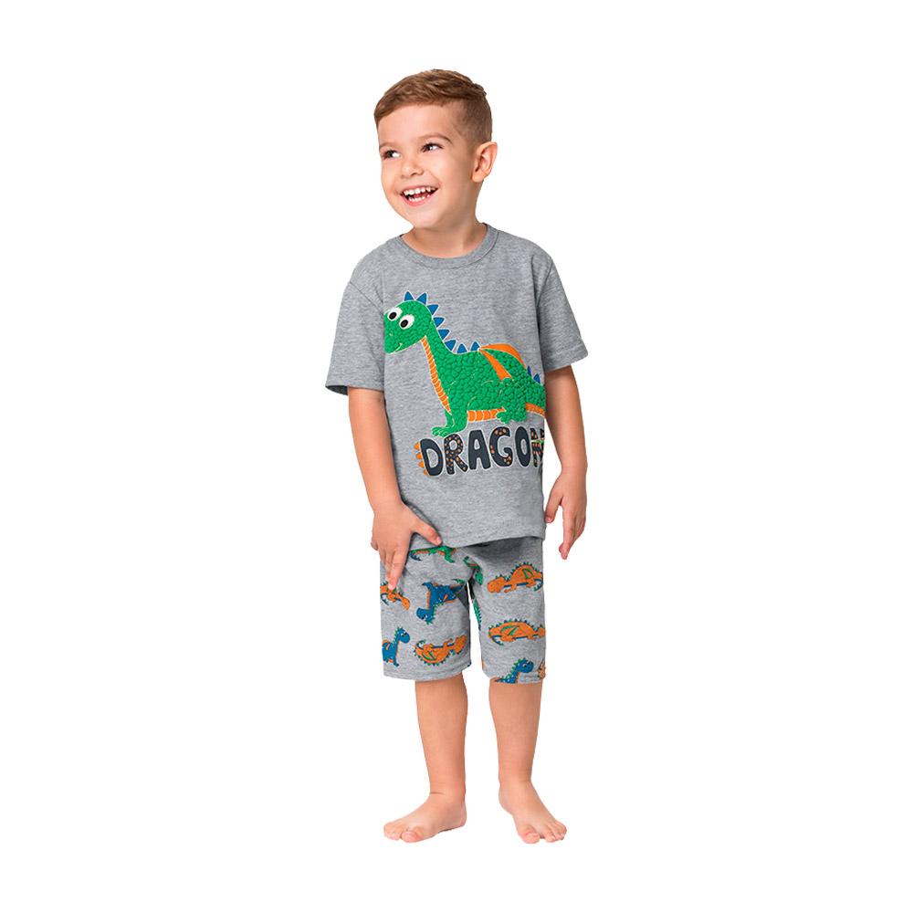 Pijama Dragon Mescla Kyly - Brilha no Escuro / Proteção Anti Mosquito