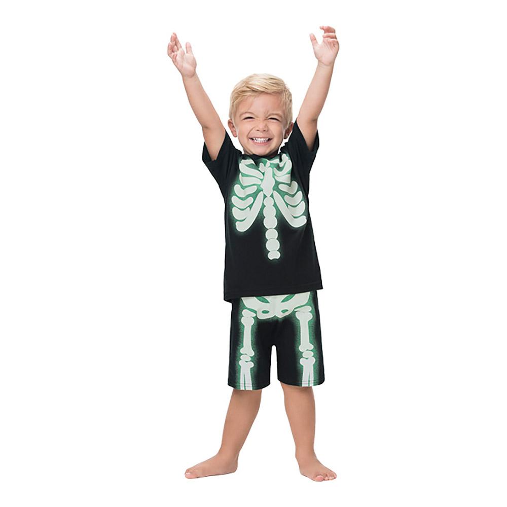Pijama Esqueleto Brilha no Escuro Kyly
