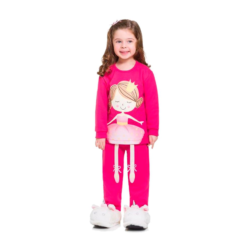 Pijama Fada Bailiarina Pink - Brilha no escuro