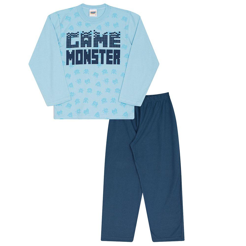 Pijama game Monster Azul