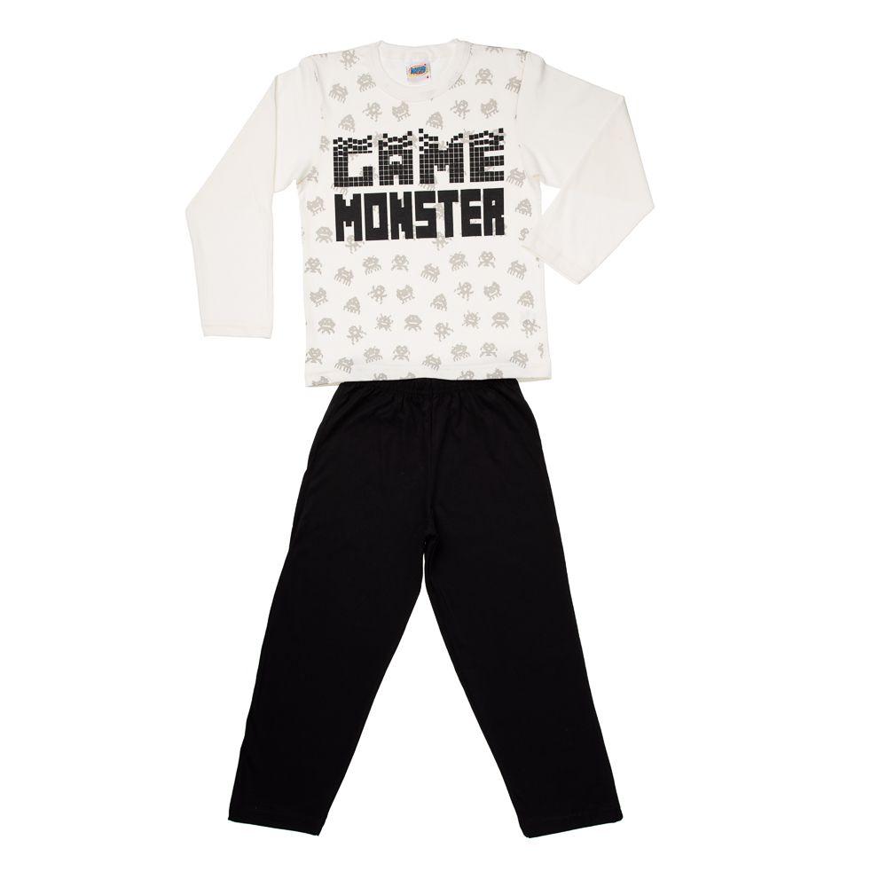 Pijama Game Monster Creme