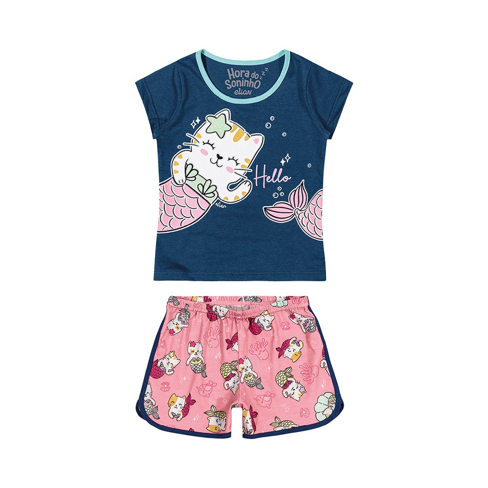 Pijama Miau Mermaid Brilha no Escuro