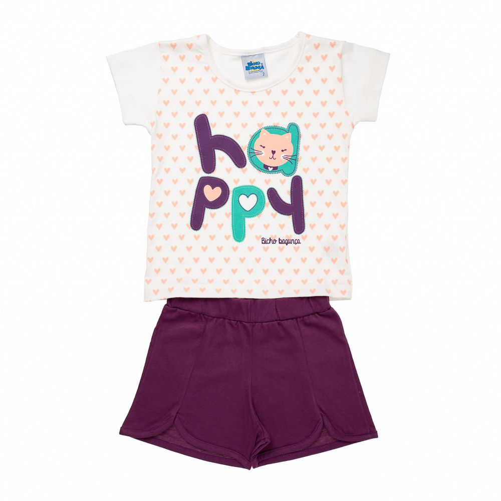 Pijama Happy Roxo